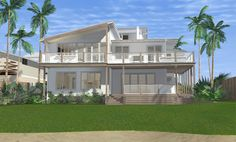 Beach House Collaroy - New home concept in designed by All Australian Architecture 3d Home Design, Beach Design, House Design, Design Homes, Beach House Hotel, Beach Houses For Rent, New Home Windows, House Windows, Australian Architecture