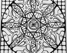 Samdala 014 Square Mandala Design To Color Inspired By Sacred Geometry And Zentangle PDF Download