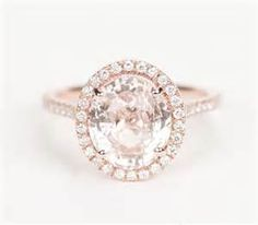 Peach Sapphire Engagement Rings #9 - Have Peachy Pink Moissanite ...