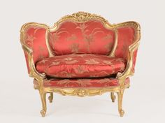 French Marquise Armchair with original cover, around 1900   Auctionata