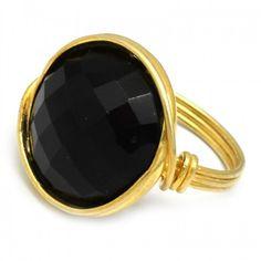 Black Onyx Gemstone Wire Handmade Ring Latest Ring Designs, Handmade Rings, Black Onyx, Gemstone Rings, Fashion Jewelry, Wire, Gemstones, Natural, Trendy Fashion Jewelry