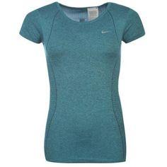 Nike | Nike Dri Fit Knited Short Sleeved Ladies Top | Ladies T Shirt