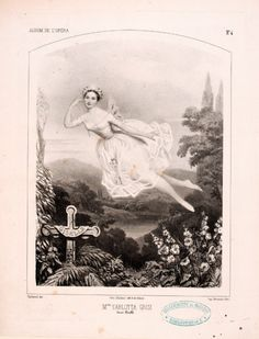 "Carlotta Grisi, 1819-1899, italian ballerina. ""Mlle Carlotta Grisi dans Giselle"", Album de l'Opéra, n° 4, by Augustin Challamel, Paris, Bertaut, circa 1842. BnF"