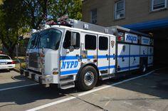 NYPD ESU Truck 5 2014 E-One Quad Cab.