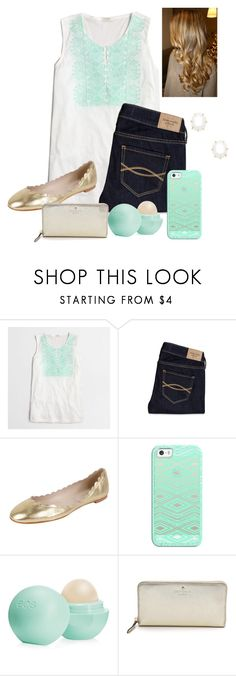 """""""The new update on here """" by raquate1232 ❤ liked on Polyvore featuring J.Crew, Abercrombie & Fitch, Fabio Rusconi, Casetify, Eos, Kate Spade and Kendra Scott"""