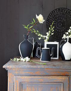Zwart-witte prints -diy http://www.vtwonen.nl/blog/styling-ideeen/zwart-witte-prints.html