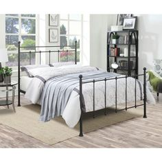 PRI All-in-1 Brown Queen Bed Frame DS-2645-290 - The Home Depot
