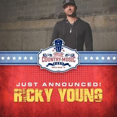Ricky Young has been added to the lineup of fabulous entertainment for the Carolina Country Music Fest in Myrtle Beach, SC June 5-7 (June 4th Kickoff)!  The list keeps growing so you better get your tickets if you haven't already!  http://www.visitmyrtlebeach.com/things-to-do/events/carolina-country-music-festival/