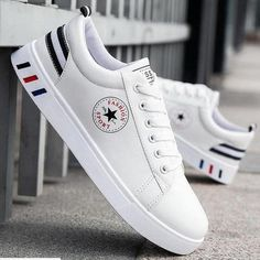 White Shoes Men Shoes Men's Casual Shoes Fashion Sneakers - White Shoes Men Shoes Men's Casual Shoes Fashion Sneakers - {hashtag} White Shoes Men, White Casual Shoes, Casual Sneakers, Casual Shoes For Men, Shoes Women, Casual Outfits, Men Casual, Mens Boots Fashion, Womens Fashion Sneakers