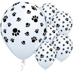 Latex Balloons 11 inch Paw Prints Around £8.49 25pk