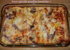 Lasagna scamorza e radicchio