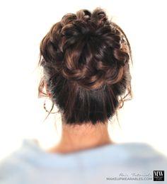 Braids hairstyles for medium long hair tutorial video Popular Starburst Braided Bun Hairstyle | Hair Tutorial Video