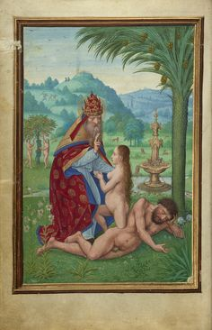"""""""Scenes from the Creation,"""" Simon Bening, Bruges, Belgium, about 1525 - 1530. Tempera colors, gold paint, and gold leaf on parchment. 