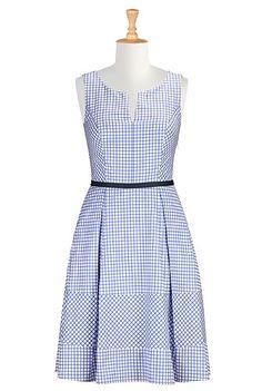 eShakti Retro style check dress