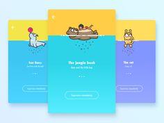 Guide Page   Animal Version 3 by Regan Jiang #Design Popular #Dribbble #shots