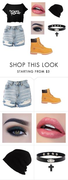"""""""Sin título #4"""" by kale-00 on Polyvore featuring moda, Topshop, Timberland, Too Faced Cosmetics y SCHA"""
