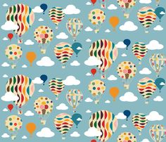 air-balloons fabric by bruxamagica on Spoonflower - custom fabric