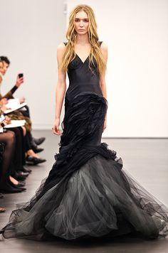 Black wedding dress from Vera Wang, Fall 2012