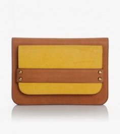 Chapon Doble Bag in Tan and Yellow