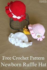 Crochet Baby Hat Patterns, Baby Girl Crochet, Crochet Baby Clothes, Crochet Baby Hats, Crochet For Kids, Baby Knitting, Bag Crochet, Crochet Cap, Crochet Crafts