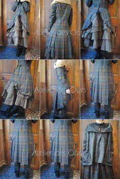 MLLE PHILOMENIA : Des idées pour changer : pantalon ou jupe, robe ou redingote, poncho ou gilet sans manche, a