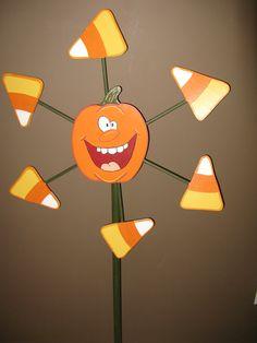 Pumpkin Whirlygig
