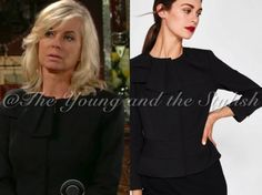 Shop Ashley's black bow jacket from The Young and the Restless #shopthelook