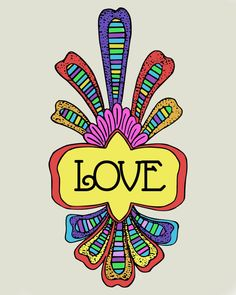 LOVE art print 8x10 vintage feel by westeightythird on Etsy, $12.00