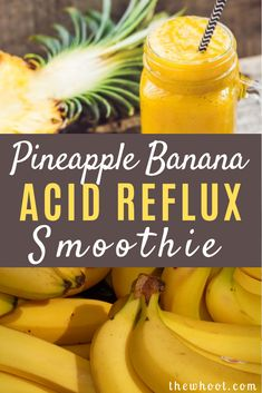 Pineapple Banana Acid Reflux Smoothie The WHOot Low Acid Recipes, Acid Reflux Recipes, Low Acid Foods, Foods For Acid Reflux, Healthy Smoothies, Healthy Drinks, Acid Reflux Smoothie, Acid Reflux Diet Plan, Acid Reflux Remedies