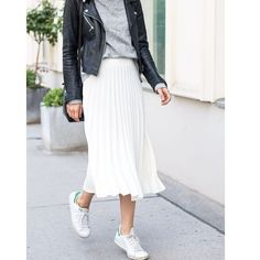 #streetfashion #pleatedinspiration 🖤🖤🖤 @the.fashionistas.lifestyle . . . . #fashion #style #stylish #pleatedskirt #pleated #snickers #jacket#photooftheday #beauty #beautiful #instagood #pretty #swag #leatherjacket #girl #design #model #shoes #heels #styles #outfit #jewelry #shopping #ootd #outfitoftheday  via ✨ @padgram ✨(http://dl.padgram.com)