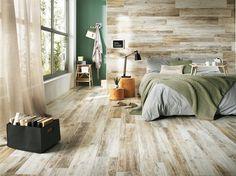 Dlažba s dekorem dřeva je prostě dokonalá.
