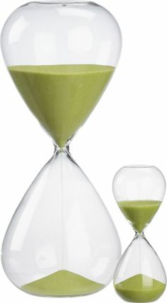 hour glass and 15 minute hour glass in all accessories | CB2. ten dollars for hour glass