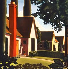 pictorialautobiography:    Kenton Nelson, The Radiant House