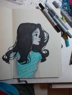 Coptic girl in blue