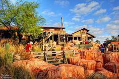 Big Thunder Mine, home of the Big Thunder Mountain Railroad, in Frontierland at Walt Disney World's Magic Kingdom.