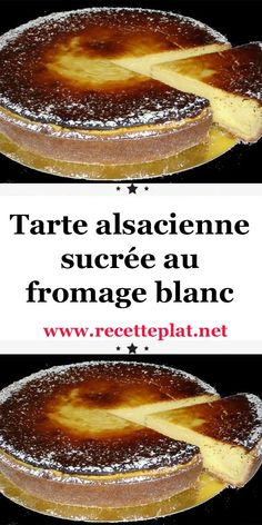 Sweet Alsatian tart with cottage cheese - Tarte - coffee Recipes Cheese Pastry, Cheese Tarts, Snack Recipes, Dessert Recipes, Coffee Dessert, Fancy Desserts, Cinnamon Cream Cheeses, Ice Cream Recipes, Coffee Recipes