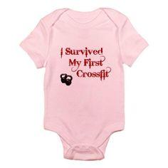 Amazon.com: CafePress Crossfit Survivor Infant Bodysuit - 0-3M Petal Pink: Clothing