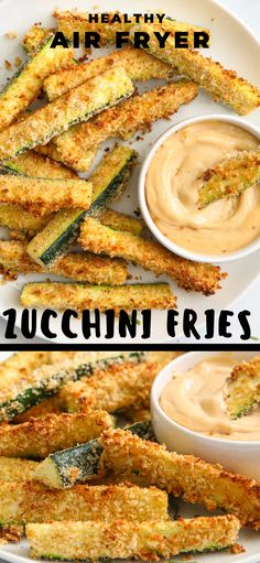 These crispy and healthy Air Fryer Zucchini Fries are a delicious snack. Simple, fast, and tasty, you'll love this spin on eating your veggies. #zucchini #zucchinirecipe #snack #simplerecipe #easyrecipe #airfryerzucchinifries #zucchinisnack Air Fryer Dinner Recipes, Air Fryer Recipes Easy, Appetizer Recipes, Appetizers, Veggie Dishes, Vegetable Recipes, Vegetarian Recipes, Cooking Recipes, Side Dishes