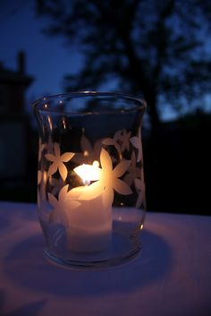 At Second Street: Color My Summer - white - etched glass votives