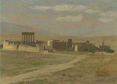 """""""View of Baalbek"""". (by Jean-Léon Gérôme)."""