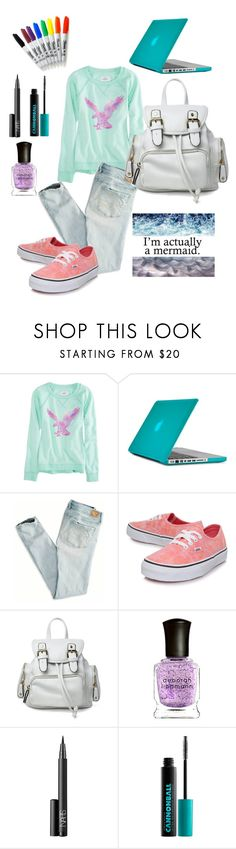 """Im actually a mermaid"" by super16 ❤ liked on Polyvore featuring American Eagle Outfitters, Speck, Vans, Sharpie, Deborah Lippmann, NARS Cosmetics and Urban Decay"
