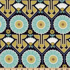 Joel Dewberry - Modern Meadow - Sunflower in Lake  JD33 - Free Spirit Fabric  - 1 Yard