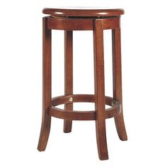 Vaxjo Solid Rubberwood Timber Swivel Stool with Timber Seat - Maple