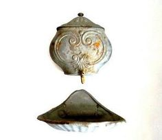 French Antique Wall Hanging  Fountain Lavabo 1800s.Shabby chic. Home Decor by VintageandMain