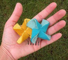 eco friendly pinwheel hair accessories tutorial | par papernstitch