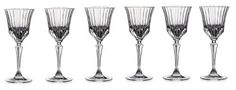 RCR Crystal Adagio Collection Liquor Glass Set by Lorenzo. $42.04. Made of lead free crystal. Straight line design from the Adagio Collection by RCR Crystal in Italy.  Mix and match with other glass sets from the Adagio Collection. Hand wash or use crystal setting on your dishwasher. Holds 2.5-Ounce of your favorite beverages. Set of 6 glasses. RCR Crystal set of 6 liquor glasses. Made in Florence Italy. Holds 1-1/2-ounce.