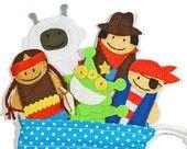 Little Red Riding Hood Finger Puppets Bag - 5 Felt Finger Puppets and Bag - Kids Felt Toy. $25.00, via Etsy.
