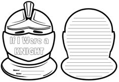 These unique helmet shaped knight writing templates are great to use for a castle unit or themes about knights, medieval times or The Middle Ages. Medieval Books, Medieval Knight, Medieval Times, History Medieval, Ancient History, History Activities, Writing Activities, School Themes, Classroom Themes