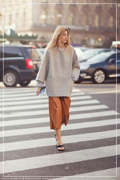Oversized sweater with culottes