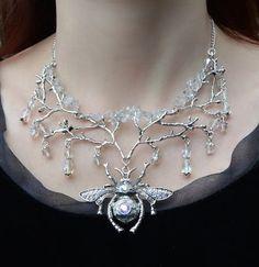 elvish crystal necklace <3